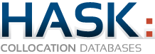 HASK | COLLOCATION  DATABASES